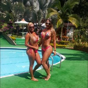 Paola Usme con una hermosa amiga