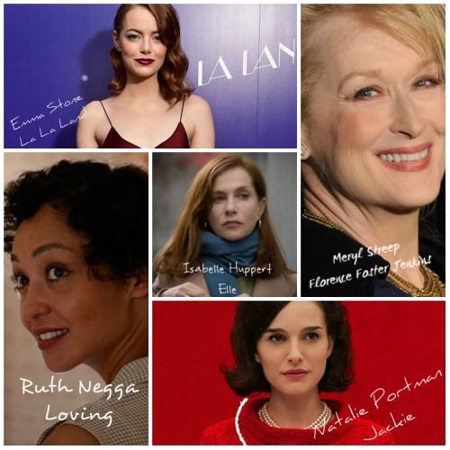 Las 5 nominadas a Mejor Actriz en los Premios Oscar 2017