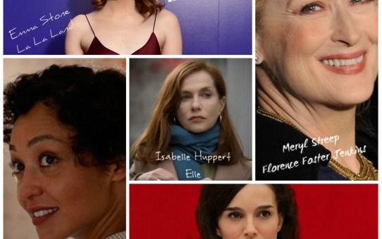 Nominadas a mejor actriz Premios Oscar 2017