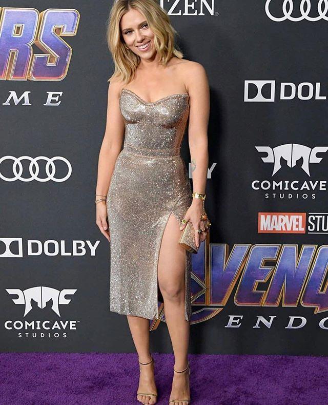 Scarlett Johansson en la premier de Avengers Endgame