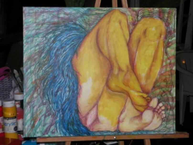 'Angel', arte creado por la poeta Zulma Quintana, de los colectivos Algo Que Decir y Las Musas Descalzas