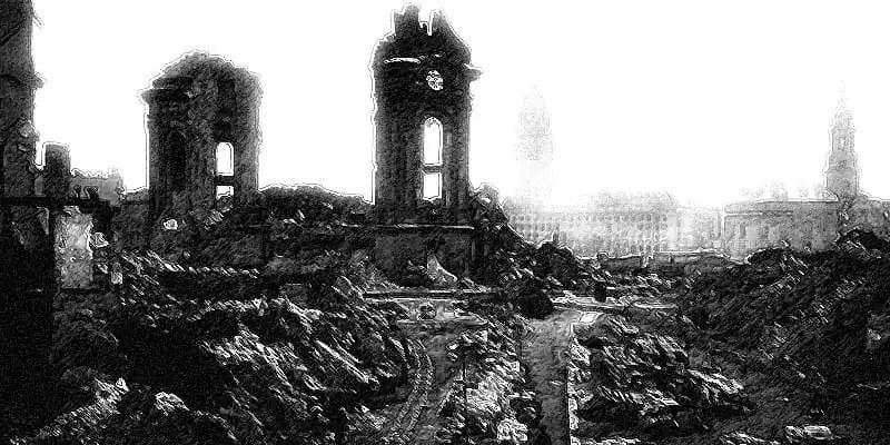 Zerstörte Dresdner Frauenkirche