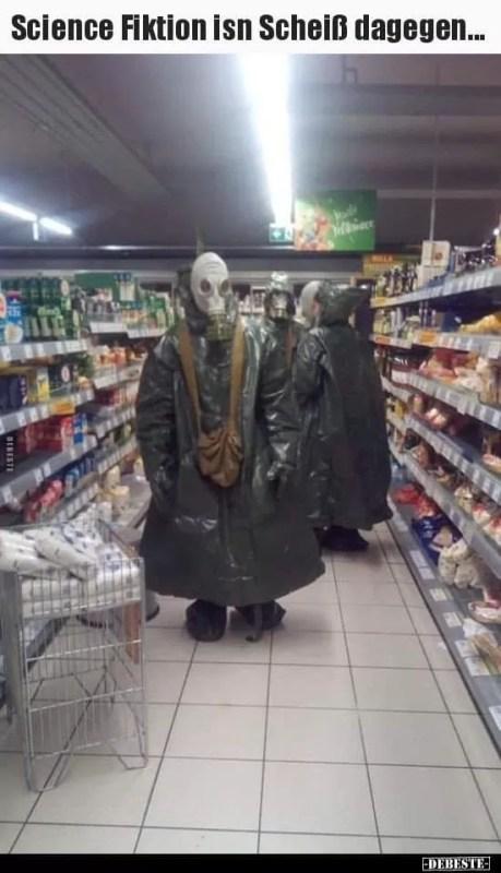 Einkaufen mit Coronavirus