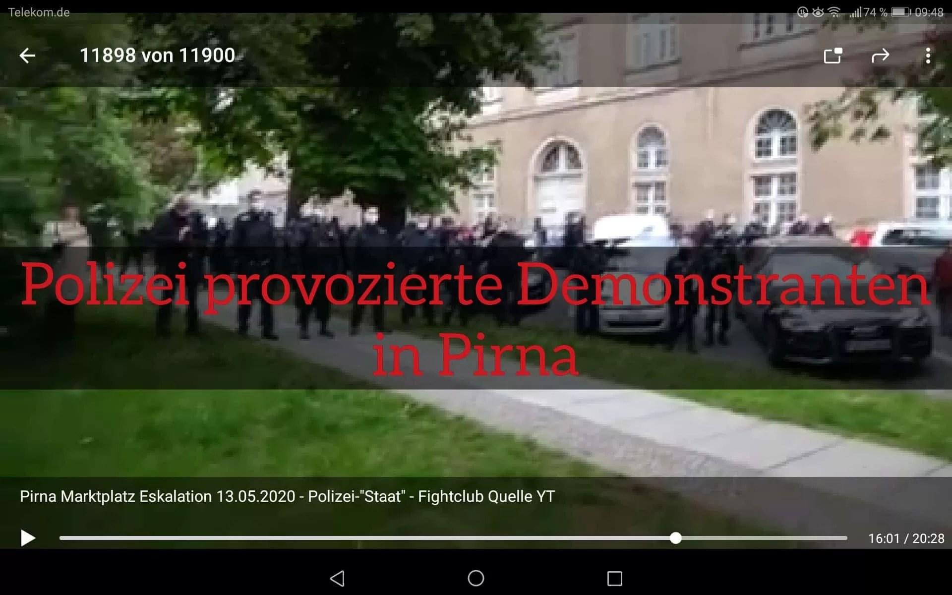 Polizei provoziert in Pirna