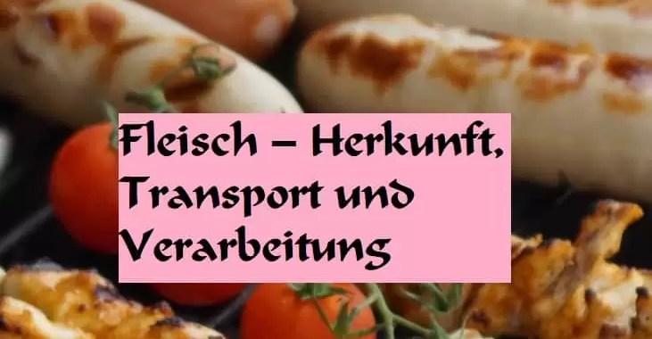 Fleisch – Herkunft, Transport und Verarbeitung