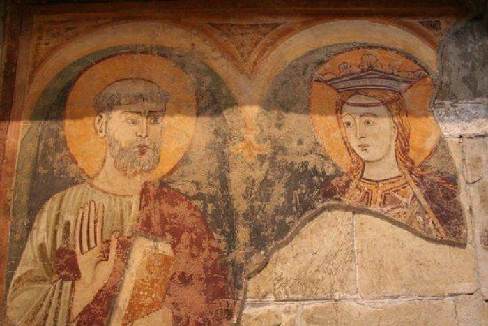 Frescos en el transepto