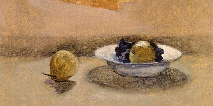 Pera y plato con frutas - 1984