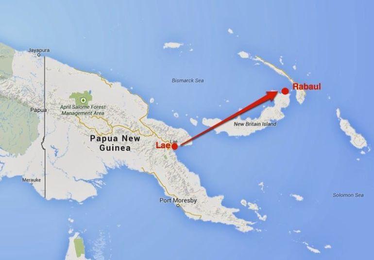rabaul - mapa