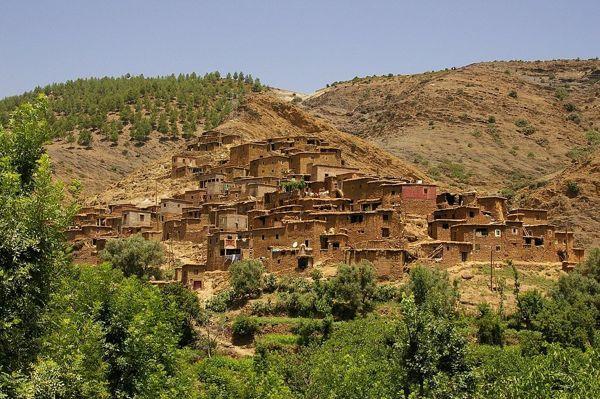 pueblo bereber, Ourika, Alto Atlas marroquí