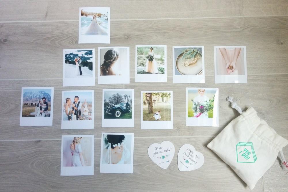 Photos Polaroid format carré de la wedding box Cheerz x ZankYou