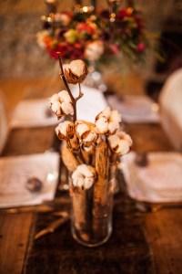 Décoration de mariage avec du cotton