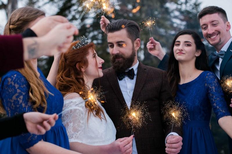 Mariage avec des cierges magiques