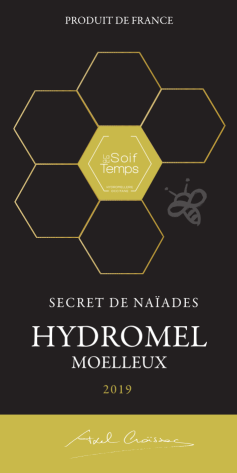 Etiquette de l'hydromel Secret de Naïades