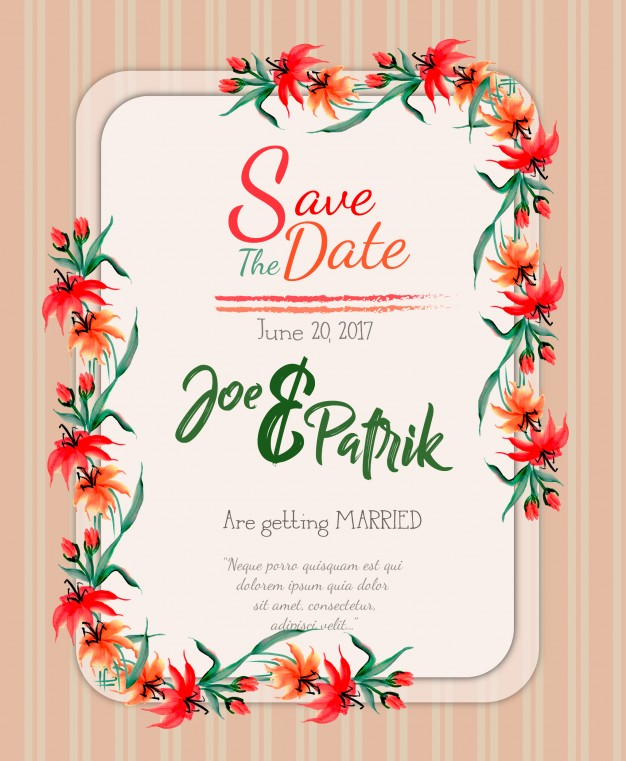 wedding card background vector free