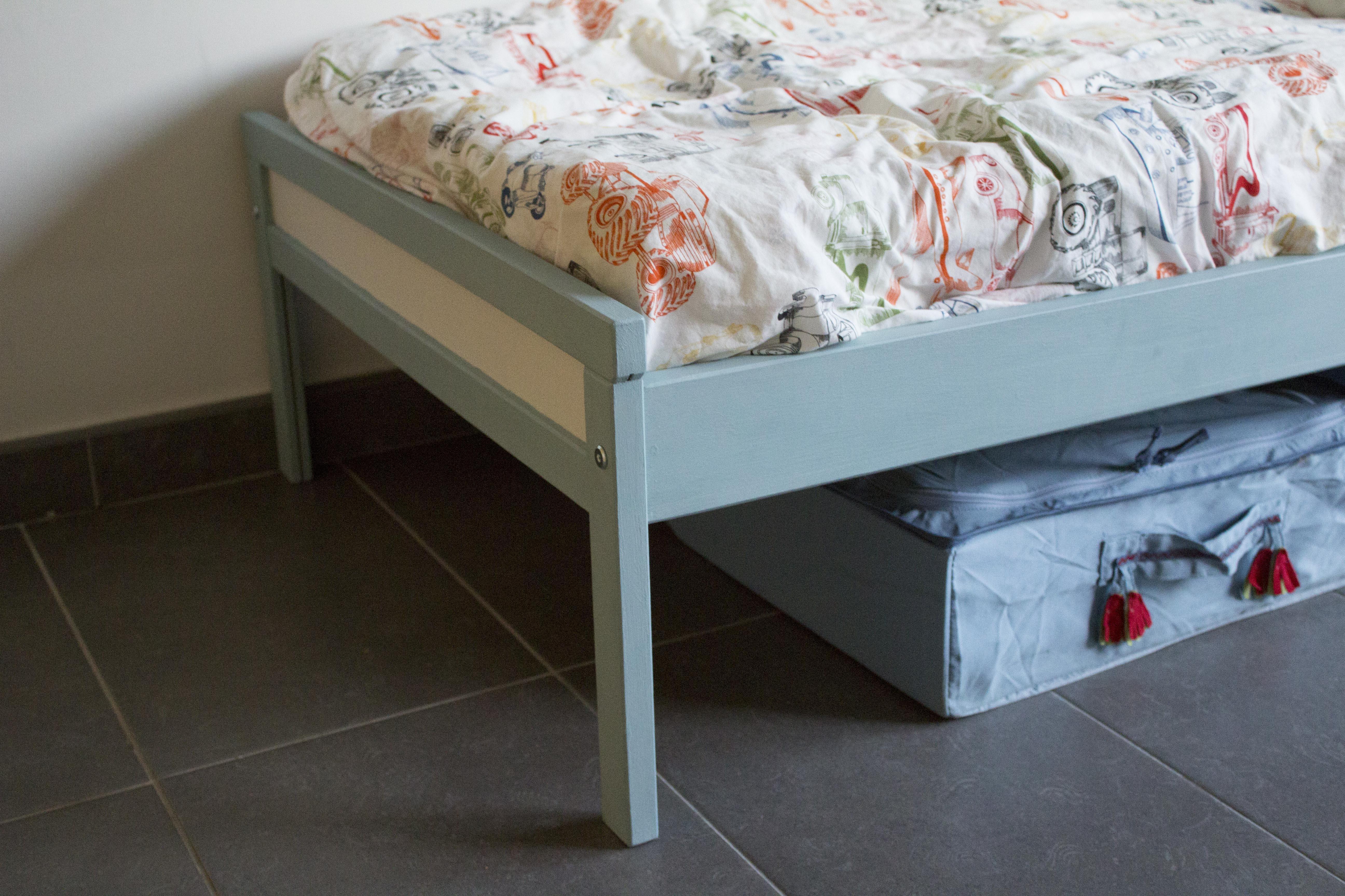Pintar una cama de ikea con chalkpaint las orejas de tit - Ikea cama infantil ...