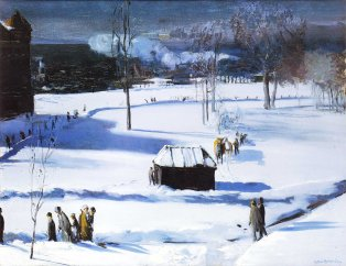 George Bellows, blue snow.