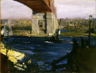 George Bellows, bridge Blackwell's island.