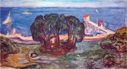 Munch,_Bäume_am_Meer_(1904,_Linde_Frieze)