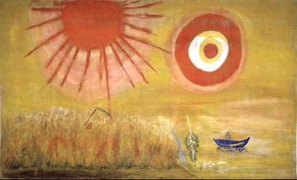 Marc Chagall, Campo di grano in un pomeriggio d'estate.
