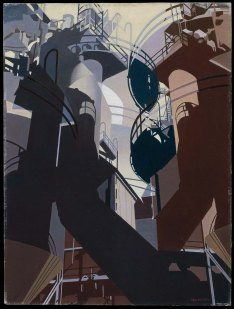 Charles Sheeler, Ore into iron.