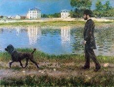 gustave_caillebotte_richard_gallo_and_his_dog_at_petit_gennevilliers