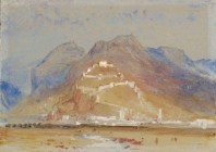 J. M. W. Turner, Mountain Scene, with Castle on Rock