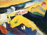 Vassily Kandisky, Paesaggio con chiesa.