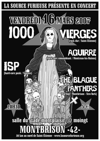 16/03/2007 - 1000 Vierges + Aguirre + ISP + Blague Panther @ Moingt