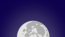 Clear Night Moon