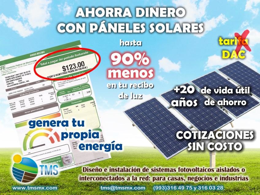 Genera tu propia energia y reduce tus pagos a CFE.