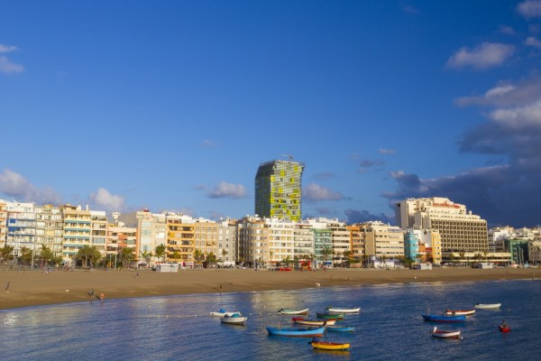 The Playa Grande zone of Las Canteras beach