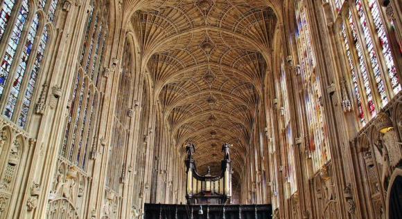 Capilla del King's College de Cambridge, bóveda de abanico