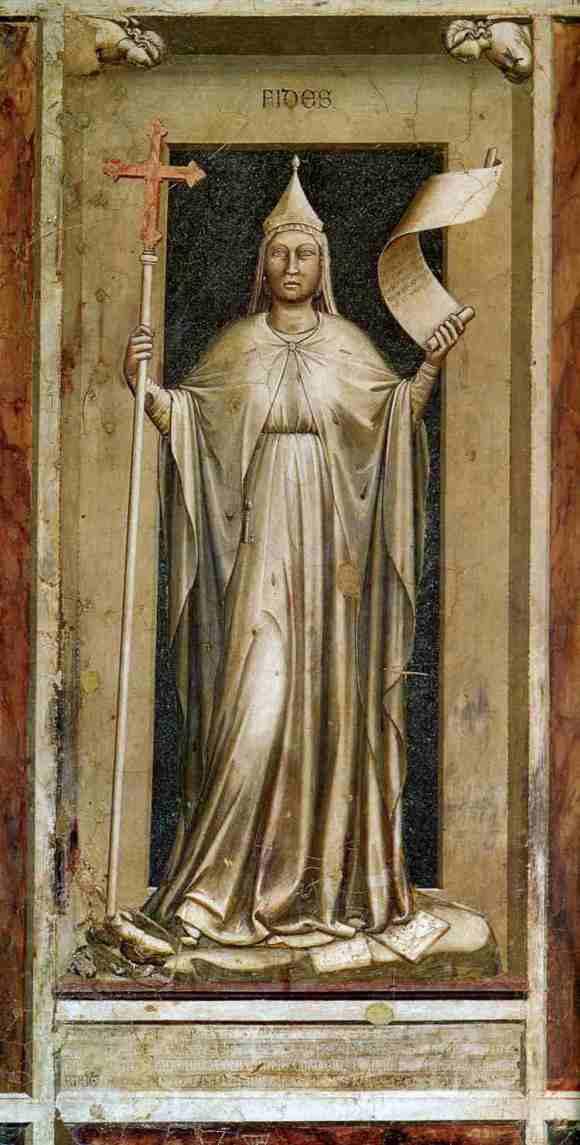 La fe fresco capilla Dell Arena Padua