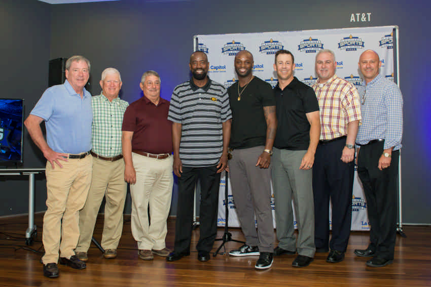 Smiles abounded among 11 inductees at Thursday press conference