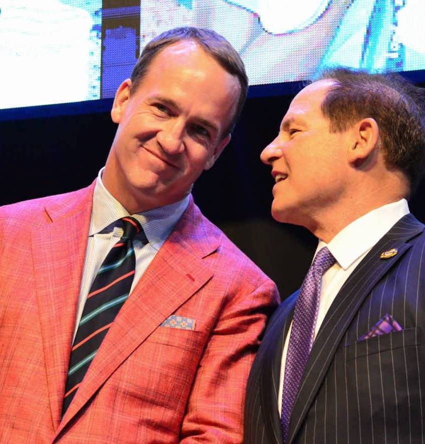 Peyton Manning and Les Miles