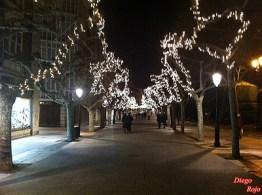 Paseo del Espolon en Navidad