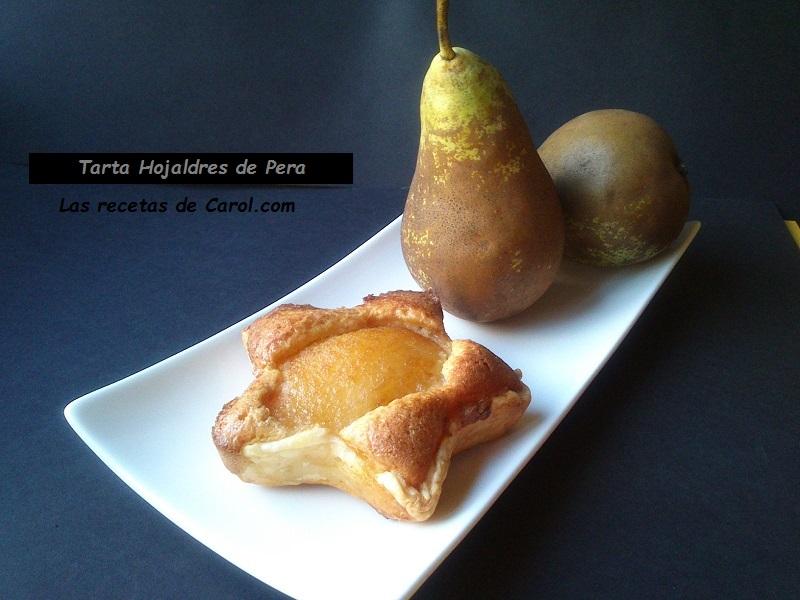 Tarta hojaldres de pera