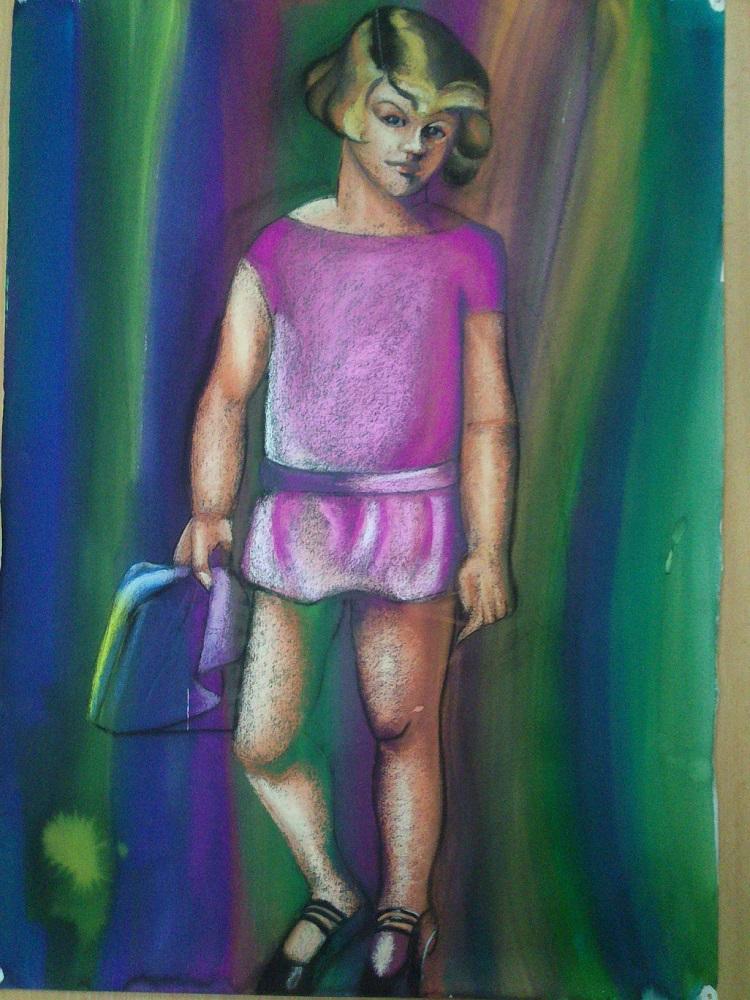 Pintura retrato de Kizette (tamara de Lempicka)
