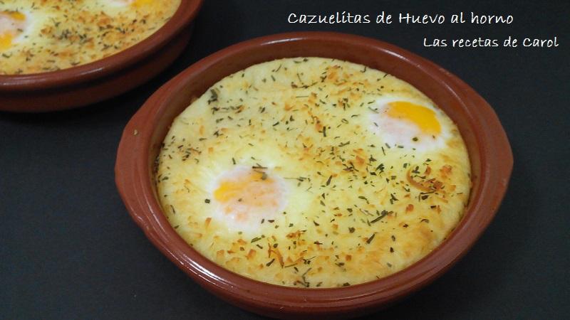 Cazuelitas de huevo al horno