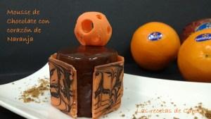 Mousse de chocolate, crema de naranja y glaseado (2)