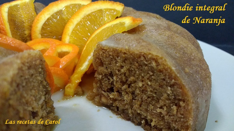 Blondie integral de naranja en microondas