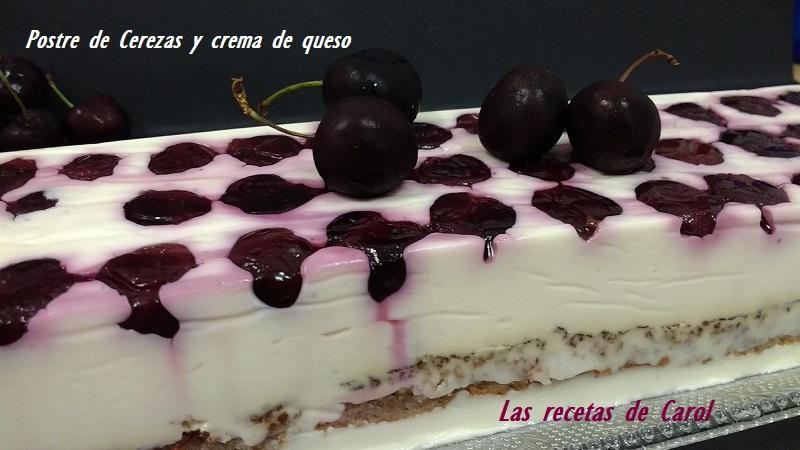 Postre de cerezas y crema de queso (2)