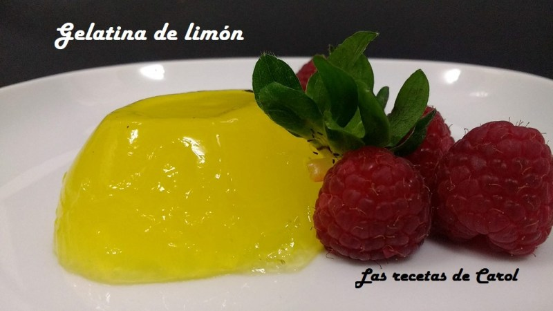 Gelatina de Limón