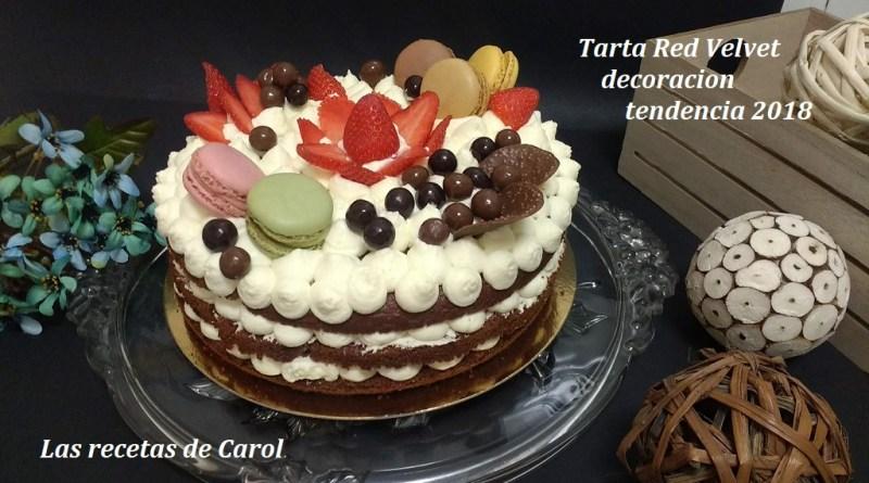 Tarta red velvet con nueva decoración