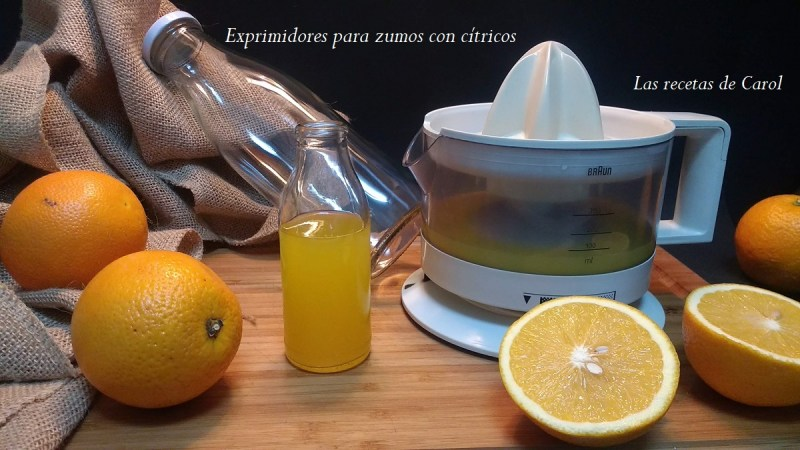 Exprimidores para zumos con cítricos