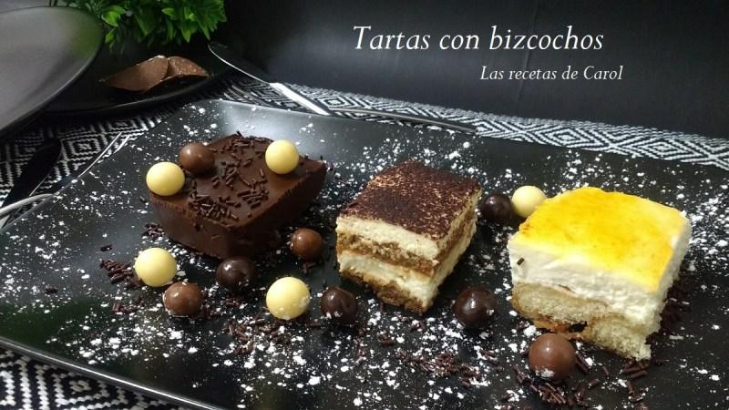 Recetas de tarta con bizcocho
