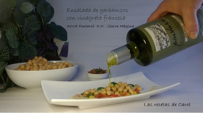 Ensalada de garbanzos con vinagreta francesa