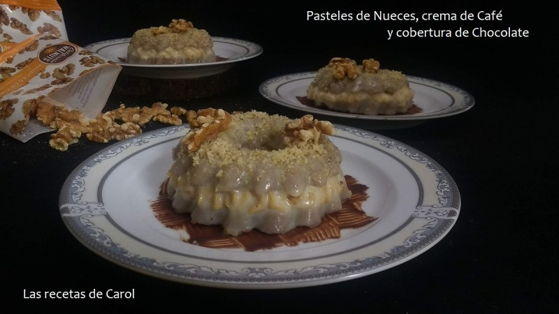 Pasteles de nueces con crema