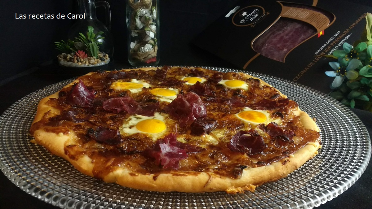 Pizza casera con Cecina de León