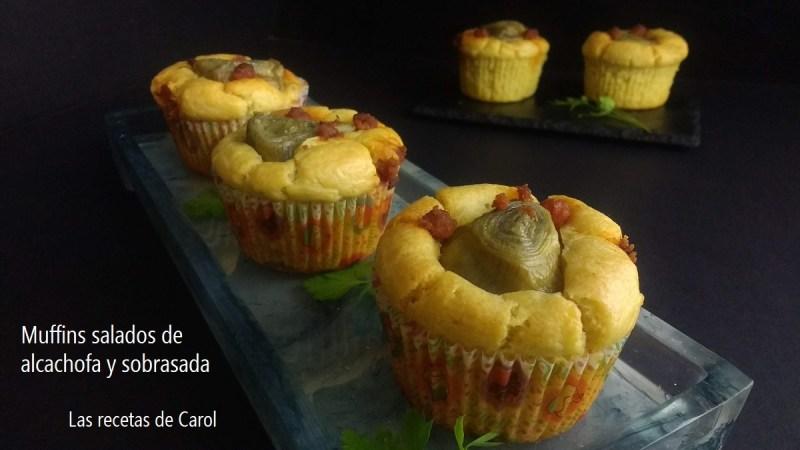 Muffins de alcachofa y sobrasada